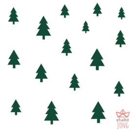 Autobaan sticker XL - bomen bosgroen