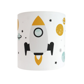 Wandlamp kinderkamer  ruimtevaart raket - wit