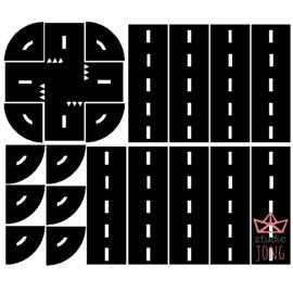 Sticker autobaan zwart