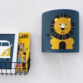 Kinderkamer wandlamp leeuw - donkerblauw oker