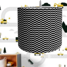 Lamp zigzag - zwart wit