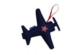 Vliegtuig hanger (blauw-rood)