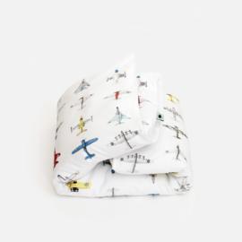 Vliegtuigen dekbedovertrek kinderkamer Studio Ditte