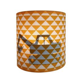Wandlamp silhouet graafmachine - diverse kleuren + stof prints