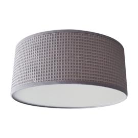 Plafondlamp wafelstof grijs