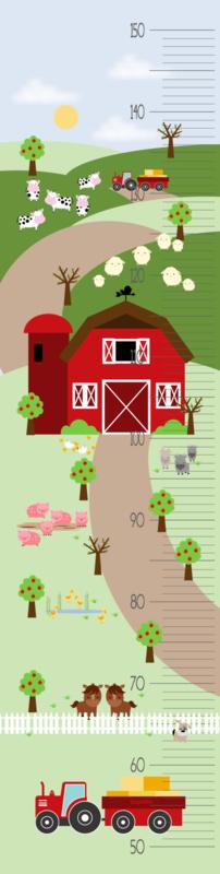 Groeimeter meetlat poster boerderij