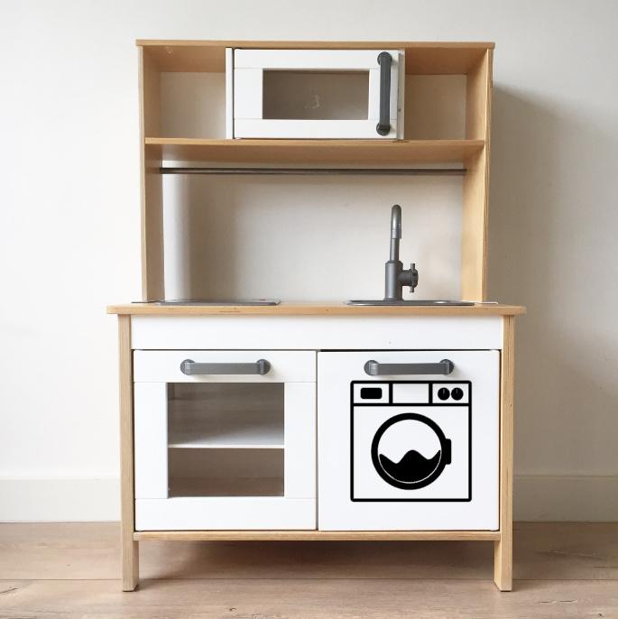 Ikea keukentje sticker wasmachine