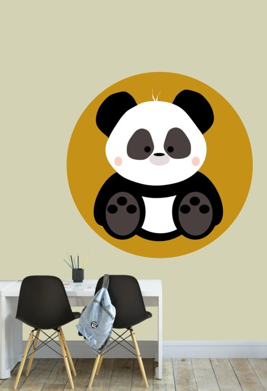 Behangcirkel kinderkamer - panda