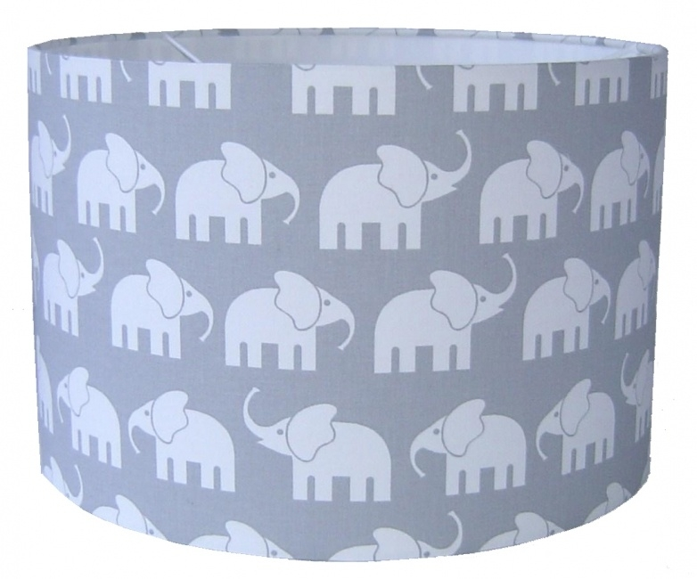 Lamp babykamer licht grijs met olifanten