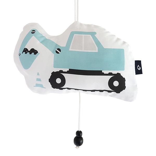 Muziekhanger graafmachine  blauw- babykamer jongen