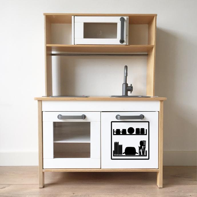 Ikea keukentje sticker vaatwasser (kinderkeuken)