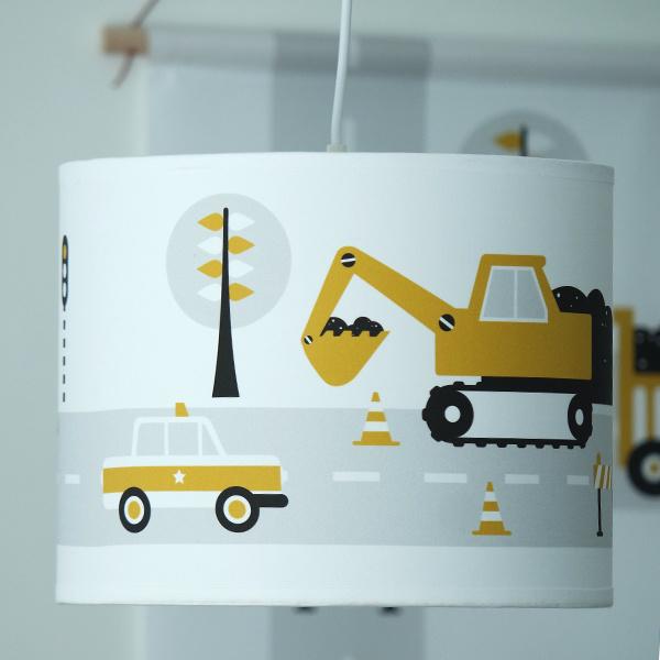 Hanglamp Voor Jongenskamer.Kinderkamer Lamp Voertuigen Oker Lamp Jongenskamer