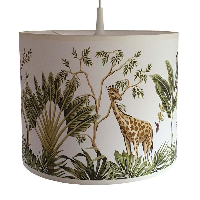 Lamp jungle kinderkamer - jungle dieren giraffe en olifant