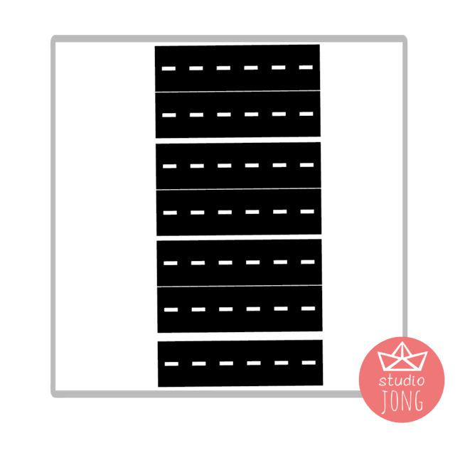 Sticker autobaan wegdelen XL - zwart