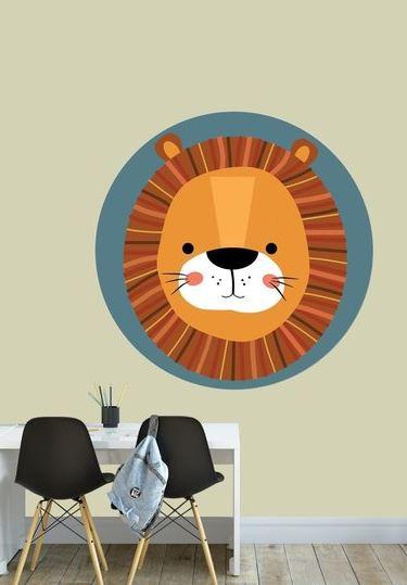 Behangcirkel kinderkamer - leeuw