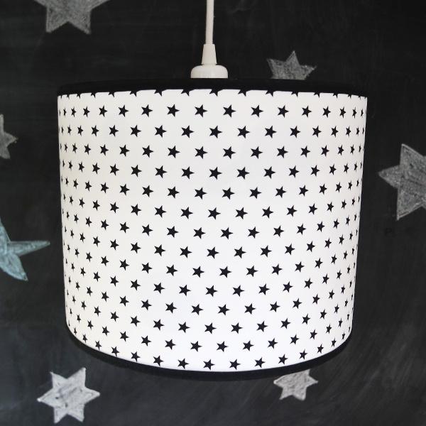 Lamp sterretjes zwart wit