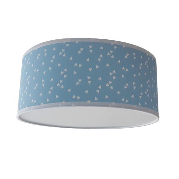 Plafondlamp triangel lichtblauw
