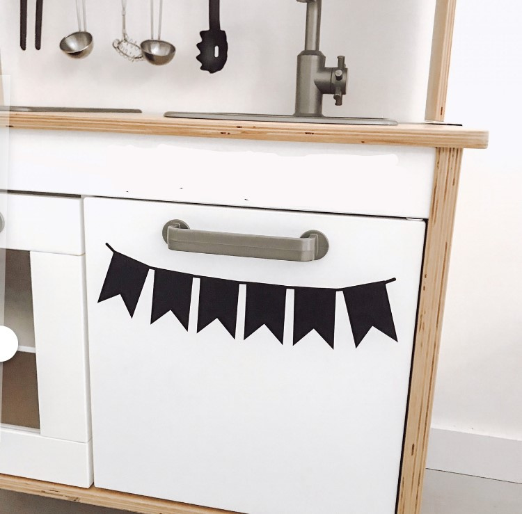 Ikea keukentje sticker vlaggetjes