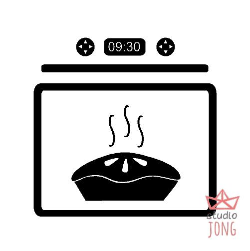 Kinderkeuken - speelkeuken sticker oven