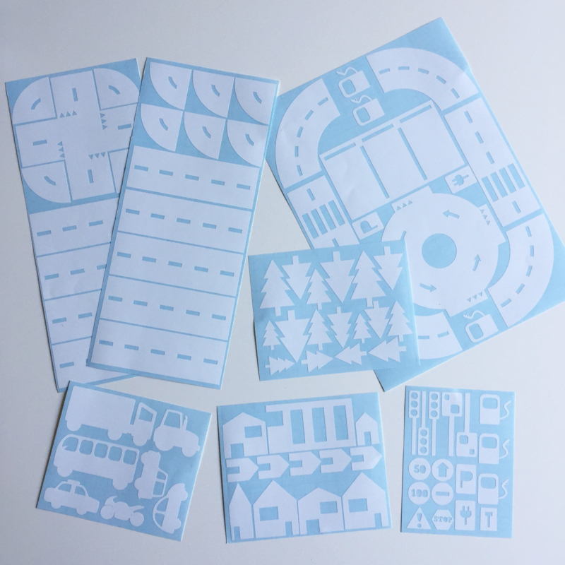 Startset sticker autobaan wit
