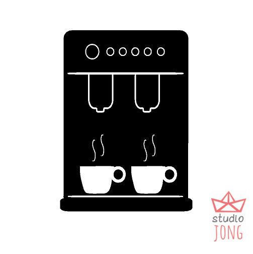 Kinderkeuken - speelkeuken sticker koffiezetapparaat
