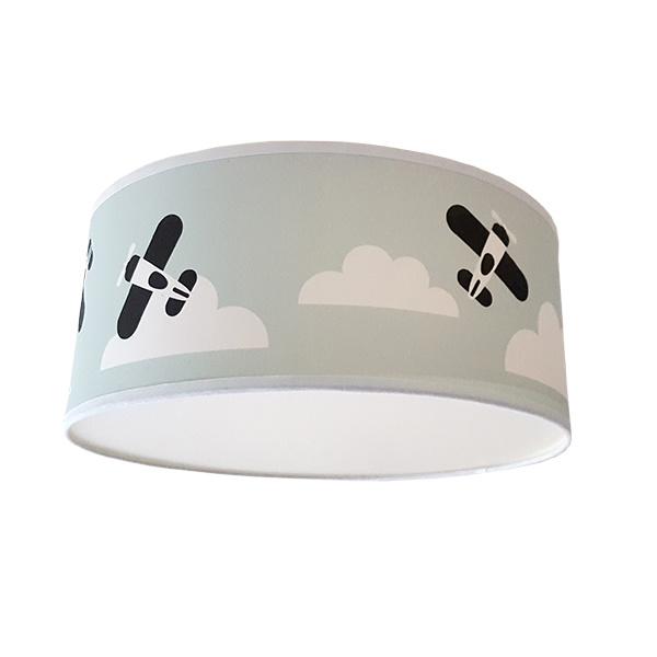 Lamp vliegtuig kinderkamer oldgreen - mint