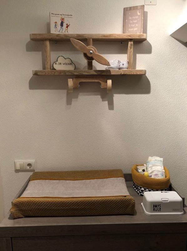Vliegtuig wandplank type small babykamer Judith