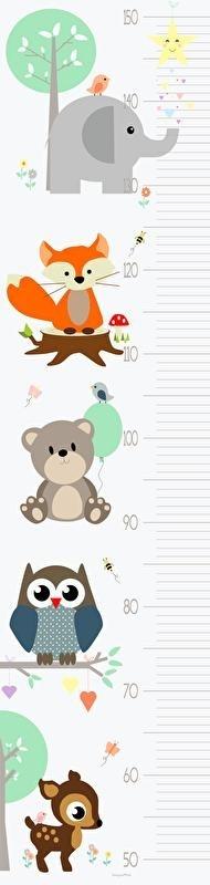 Groeimeter meetlat poster dieren