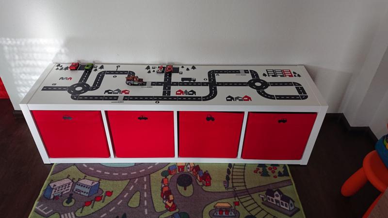 Speelkast autobaan stickers Marloes