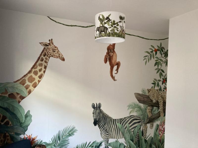 Jungle lamp in kinderkamer dochter van Koen