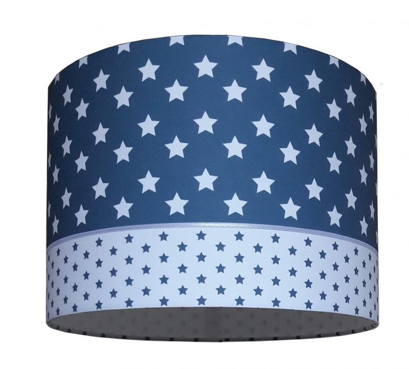 Lamp babykamer jeans blauw met sterren
