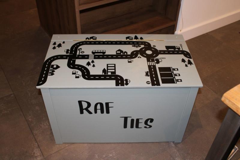 Autobaan speelkist van Raf en Ties