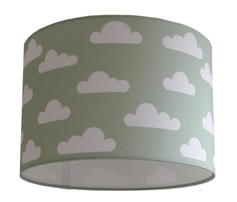 Lamp old green / oud groen -  met wolken