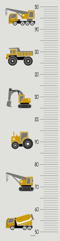 Groeimeter meetlat poster voertuigen