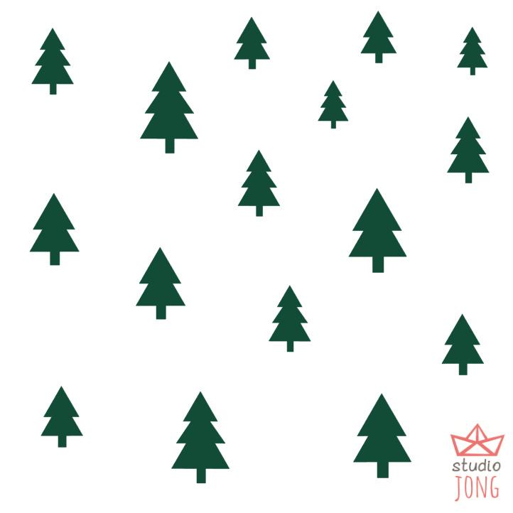 Autobaan sticker uitbreidingsset boompjes bosgroen