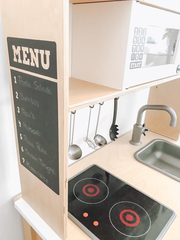 Ikea keukentje sticker menukaart sticker