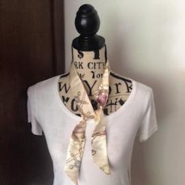 Zijden 'Twilly' (100x 4) kleur S6. Leuk om de hals of te dragen aan de tas a là Hermes! In verschillende kleuren.
