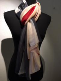 Prachtige XL zijde ruit sjaal