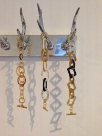 Prachtige schakel armbanden met hoorn uitstraling