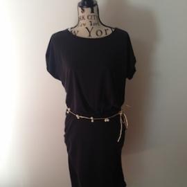 Parelriem Goud (155 cm), maakt elke outfit bijzonder! PU lederen riempje met parels / steentjes