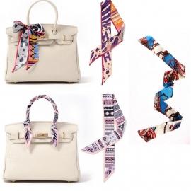 Zijden 'Twilly' (100x 4) kleur S8. Leuk om de hals of te dragen aan de tas a là Hermes! In verschillende kleuren.