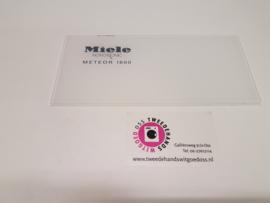 Zeepbak plaatje wasmachine Miele Meteor 1600