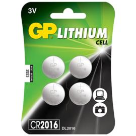 Batterij Knoopcel CR2016 3 Volt