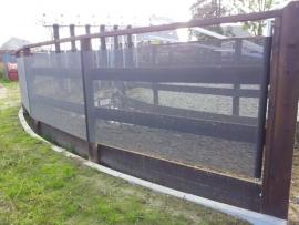 Windbreekgaas zwart 1,05m breed incl. bevestiging