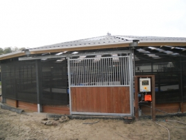 Windbreekgaas zwart 2,1m breed incl. bevestiging