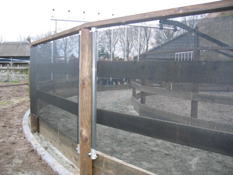 Windbreekgaas zwart 1,05m breed