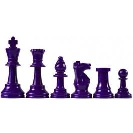 Paarse en witte schaakstukken, Koning 95 mm