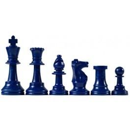 Blauwe en witte schaakstukken, Koning 95 mm