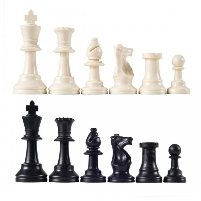 Witte en Zwarte schaakstukken, koning 95 mm
