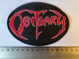 OBITUARY - RED/WHITE LOGO